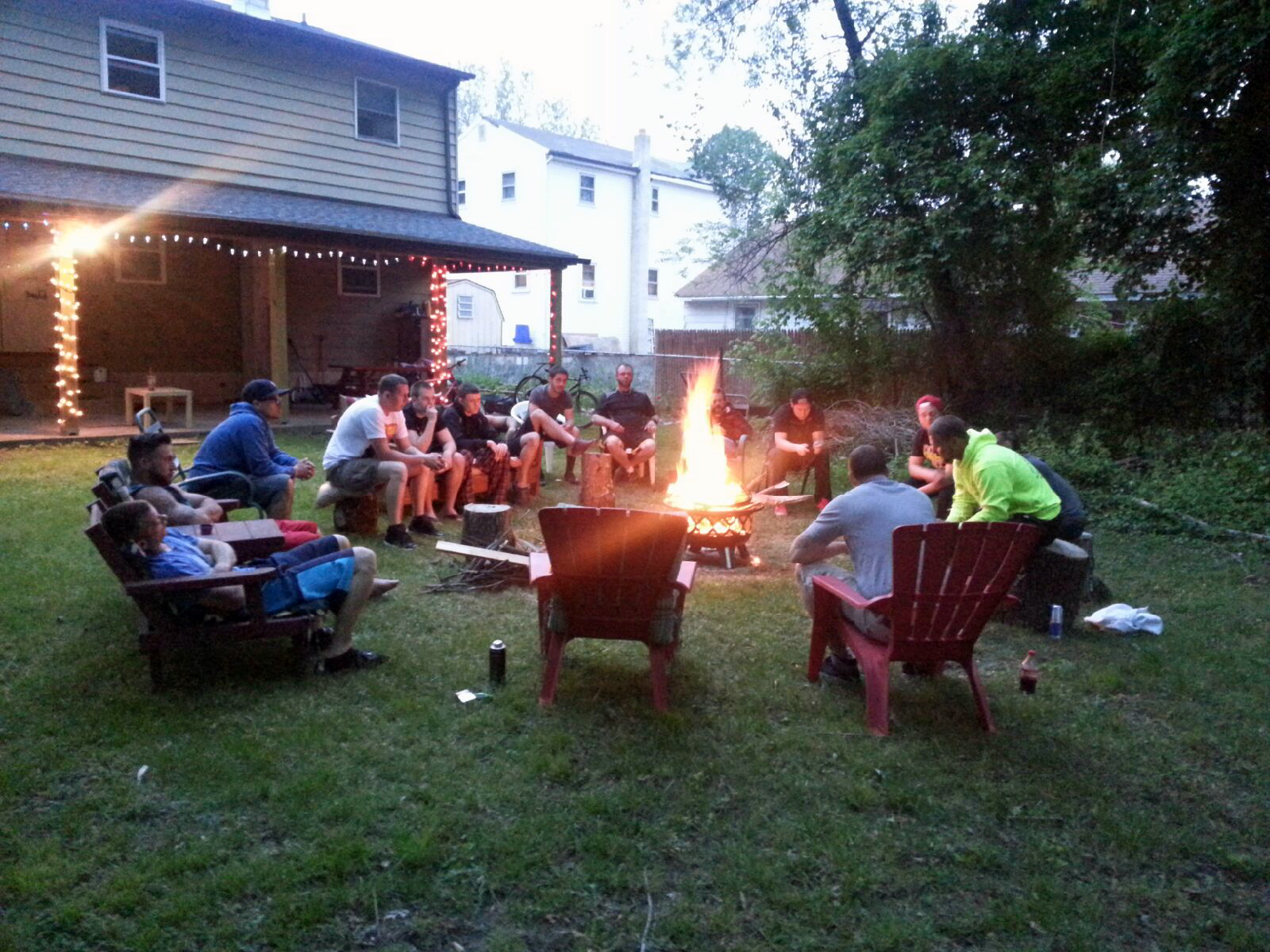 Independence Lodge Sober Living supports its residents with regular campfire recovery meetings