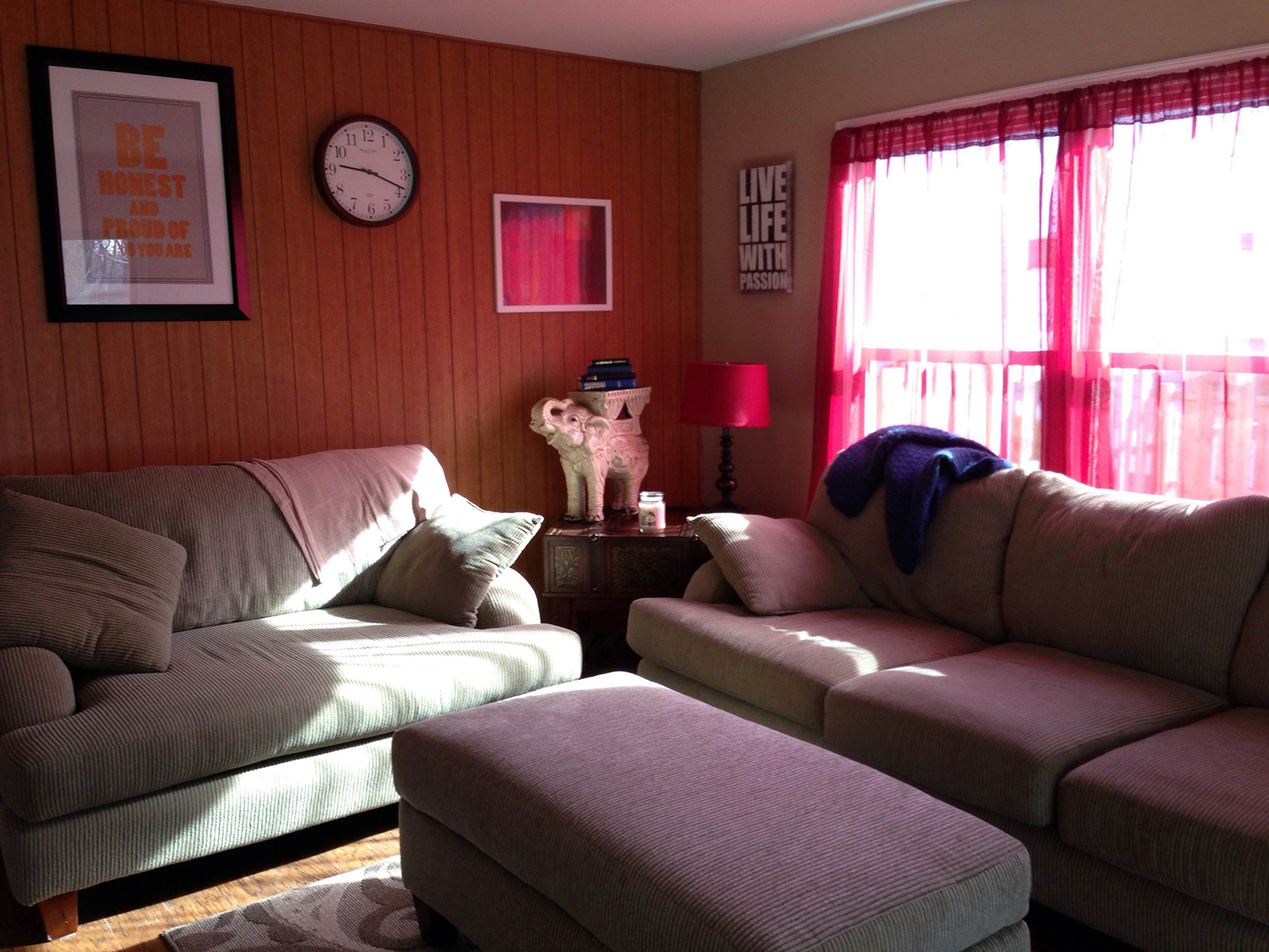 Calm and comfortable living rooms provide common areas for Independence Lodge resident male drug addicts and alcoholics